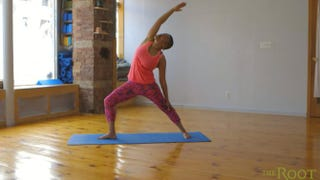 Yoga instuctor Shelley NicoleThe Root TV screenshot