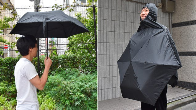You Can Wear This Umbrella as a Rain Poncho When You Don t Have a Free Hand to Carry It