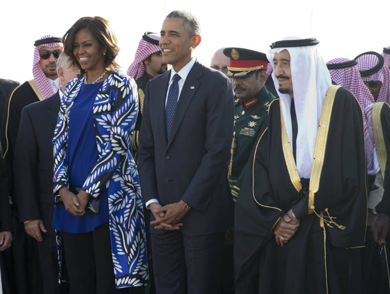 Illustration for article titled Michelle Obama's Bare Hair in Saudi Arabia Isn't a Real Controversy