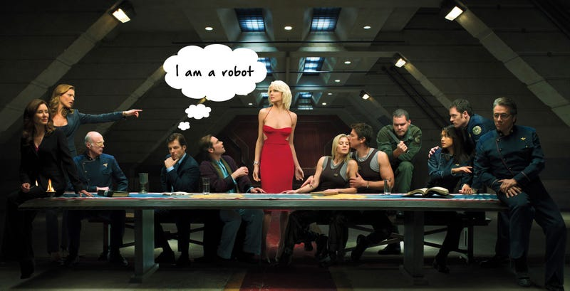 The board game doesn't stick to canon, so ANYONE can be a Cylon.