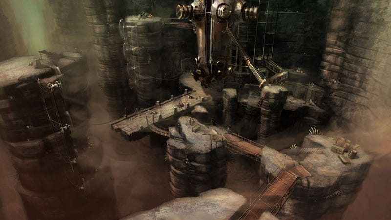 Illustration for article titled Dark Void Setting Concept Art Explained