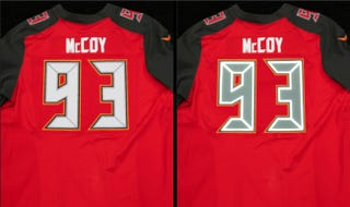 Illustration for article titled Buccaneers Will Debut Reflective Jersey Numbers Tomorrow