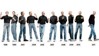 Illustration for article titled The Evolution of Steve Jobs' Clothing