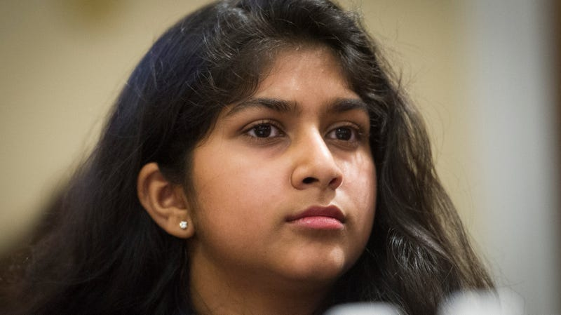 Nadia Nazar, 16, didn't hold back in her testimony to Congress February 6, 2019.