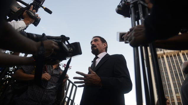John McAfee Charged With Exactly What You Thought He Would Be Charged With