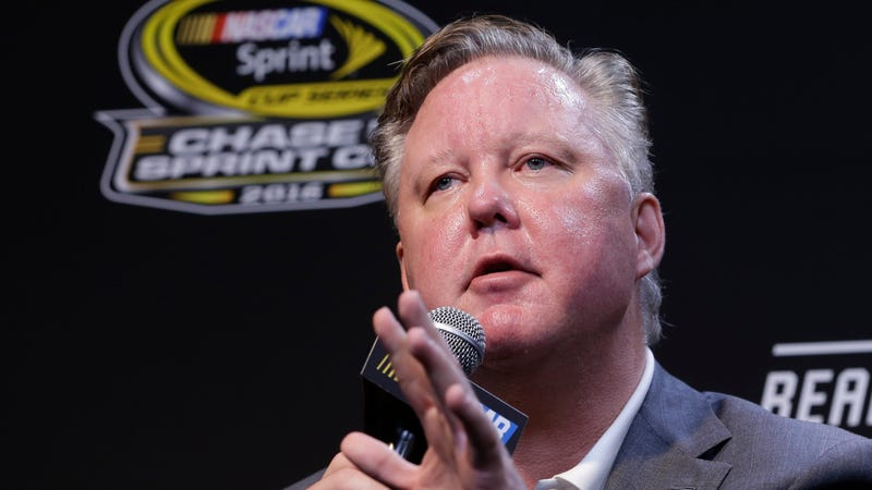 Brian France at a press conference in 2016.
