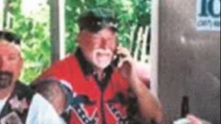 Port Clinton, Ohio, Police Chief Robert Hickman is seen here in vacation photos wearing the Confederate-flag vest that has stirred up quite a bit of controversy.WKYC-TV screenshot