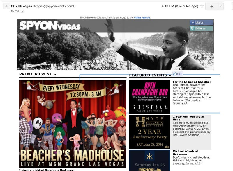Illustration for article titled SPYONVegas Wants You To Get Your Mad Freak On In Las Vegas For MLK Day