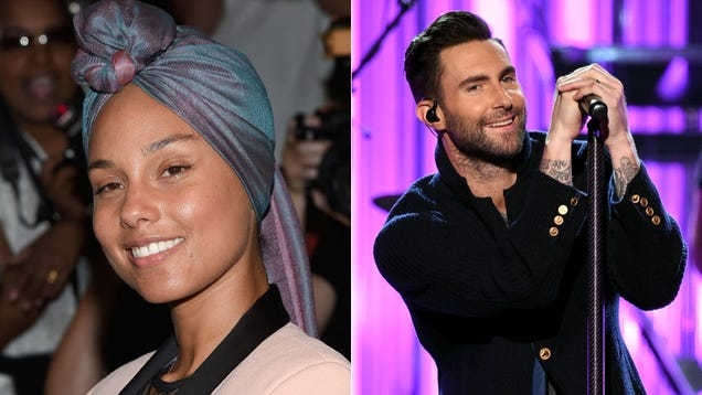 Adam Levine Rightfully Points Out Alicia Keys Does Actually Wear Makeup