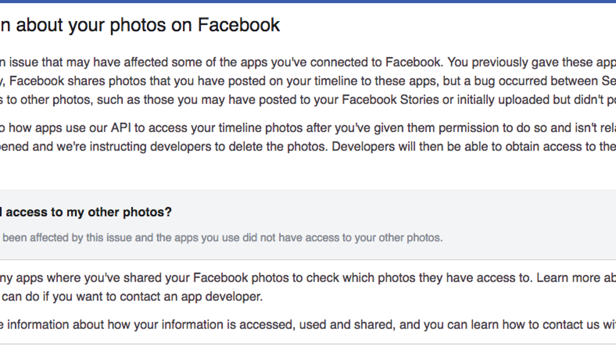 How to See if Your Photos Were Exposed By Facebook's Latest Bug
