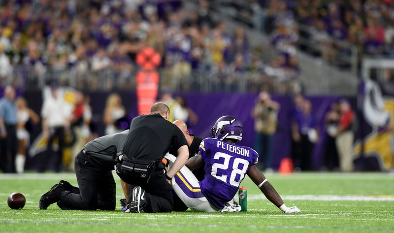 Adrian Peterson to have knee surgery, season in flux