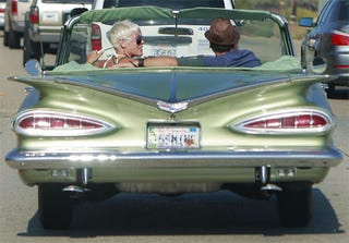 Illustration for article titled Pink Cools It In '59 Chevy