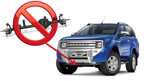 i don't believe for a second the new ford bronco and ranger will get solid  front axles
