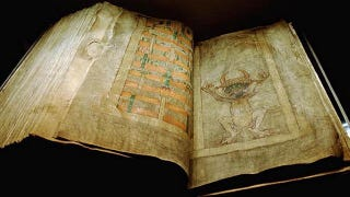 Illustration for article titled Codex Gigas: Devil's Bible or Just an Old Book?