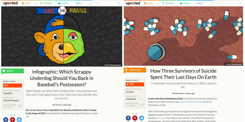 Illustration for article titled Reddit Is Launching a News Website Called Upvoted — Without Comments