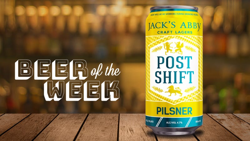 Illustration for article titled Beer Of The Week: Jack's Abby Post Shift pilsner is easy-drinking but far from boring