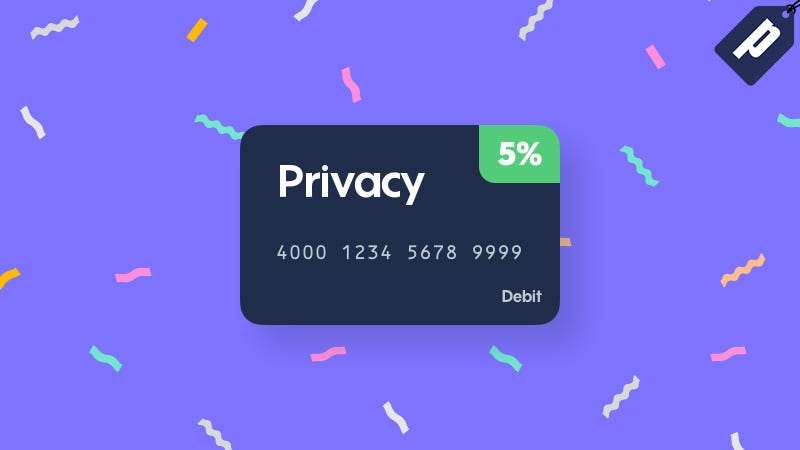 Illustration for article titled Earn 5% Cash Back For 3 Months With A Virtual Burner Card From Privacy.com