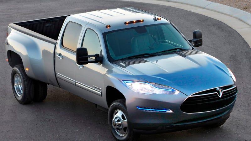 Illustration for article titled Tesla Will Make A Pickup Truck