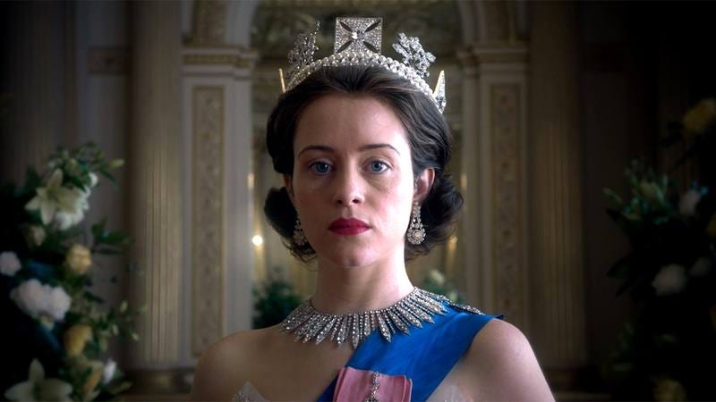 Claire Foy playing Queen Elizabeth II in 'The Crown.'