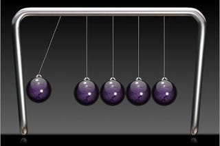 Illustration for article titled Deadly Sound Bullets Spring From Newton's Cradle