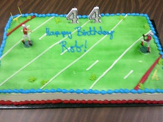 Illustration for article titled Rob Ford Got A Football-Themed Cake For His Birthday