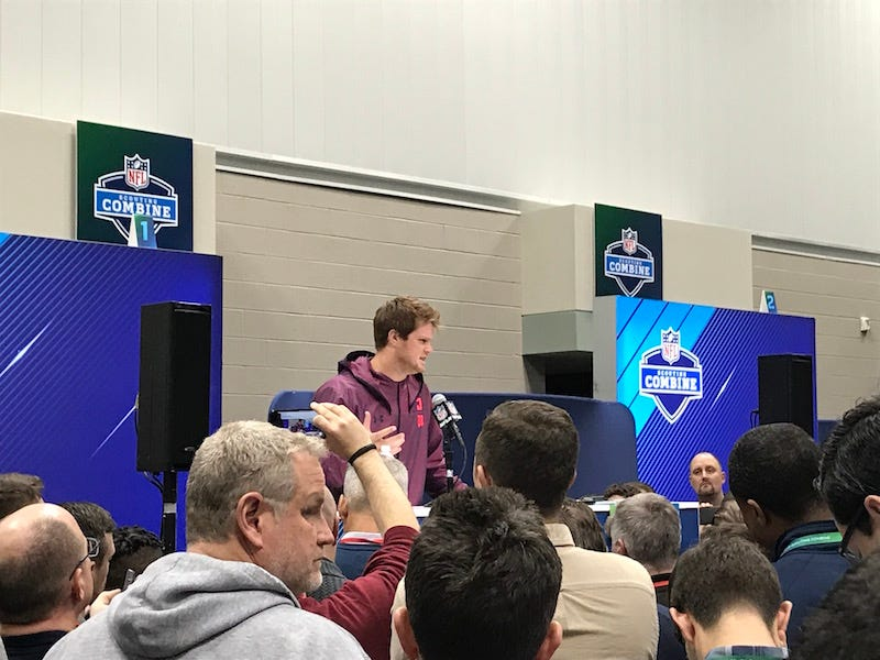 Illustration for article titled NFL Makes Combine Pressers A Less Crappy Experience