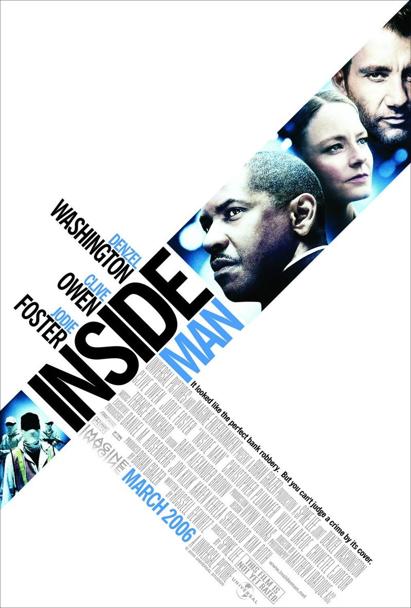 Illustration for article titled Your (Weekly) Winter Movie Guide to Movies You Should Watch Again: Inside Man