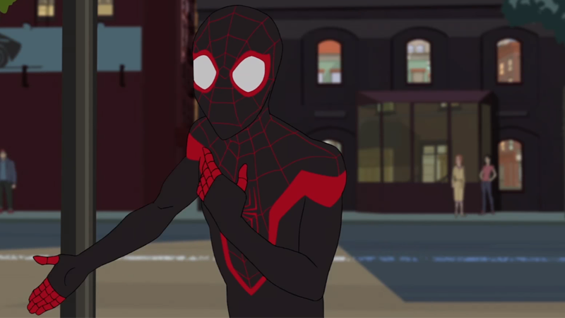 there sure are a lot of spider people in disney s new spider man cartoon