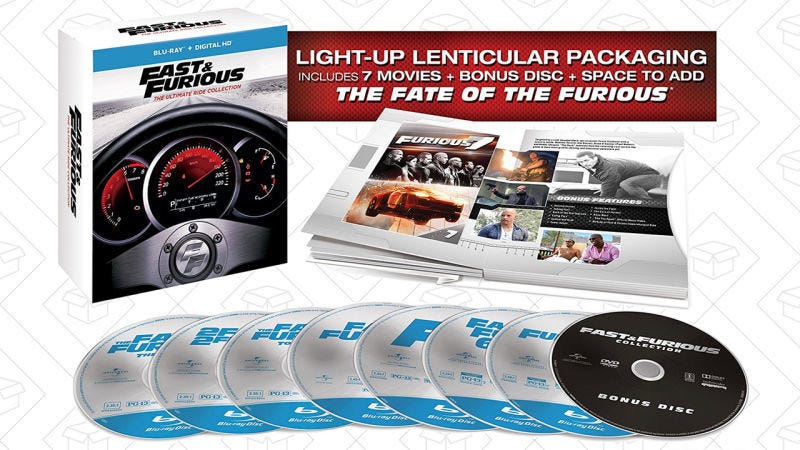 Reserva Fast & Furious: Colección the Ultimate Ride, $28