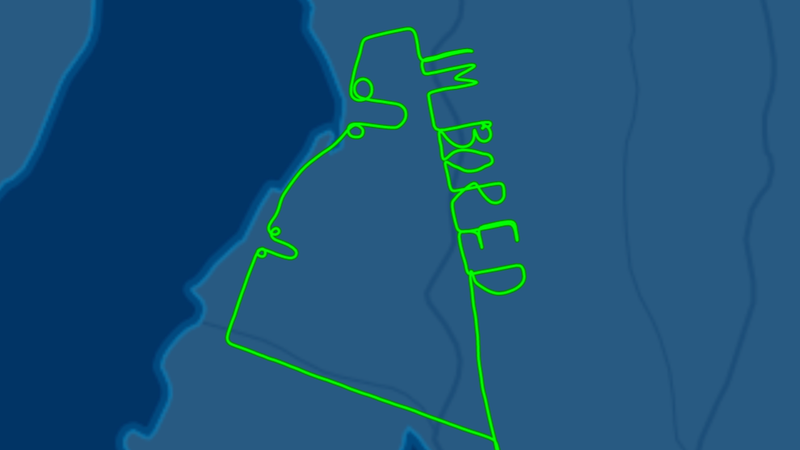 Illustration for article titled Bored Pilot Writes 'I'm Bored' and Draws Two Dicks in the Sky