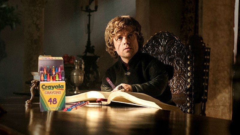 Illustration for article titled Game Of Thrones is finally getting its own coloring book
