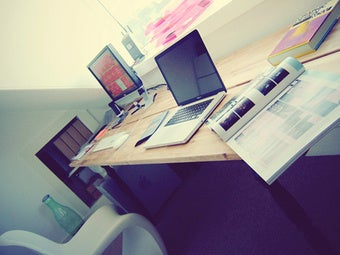 Illustration for article titled Repurpose a Dining Room Table as a Two-Person Workstation - Gallery