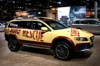 Illustration for article titled Chicago Auto Show: The Volvo XC70 SR Surf Rescue Vehicle, For When Hof Isn't Sober