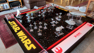 Illustration for article titled I Want To Play All My X-Wing Games On This Amazing Light Up Board
