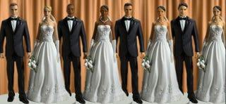 Interracial wedding cake toppers (Oprah.com)