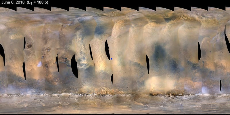 Martian Dust Storm Sends NASA's Opportunity Rover into Hibernation Mode