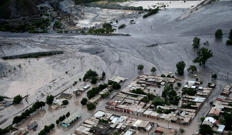 Landslide that cancelled Stage 9. Photo credit: Franck Fife/AP Images