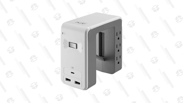 Grab This $20 Surge Protector and Get the Wires out of the Way