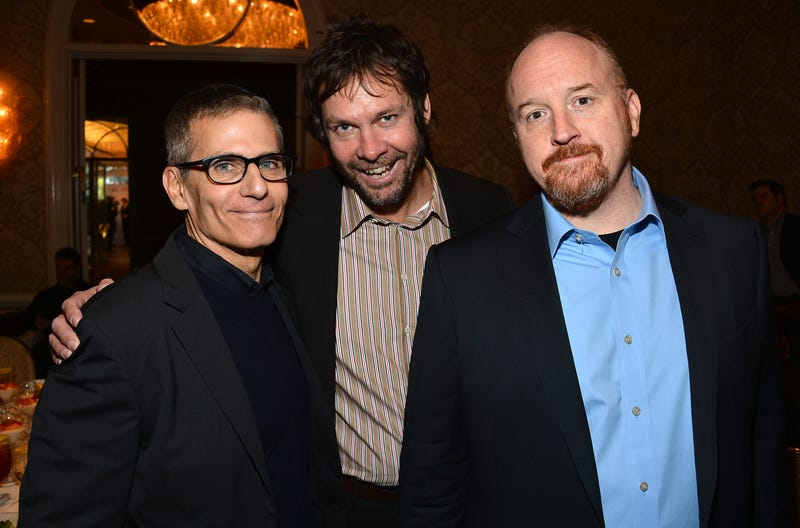 Becky (M) with HBO Programming President Mike Lombardo (L) and CK in 2013. (Photo: Frazer Harrison/Getty Images)