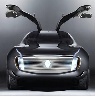 Illustration for article titled Renault Ondelios Concept Sets Gullwing Doors Into Attack Mode Ahead Of Paris
