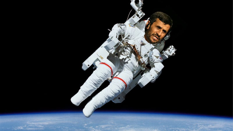 """Illustration for article titled Ahmadinejad Wants to """"Sacrifice"""" Himself in Space for Iran"""