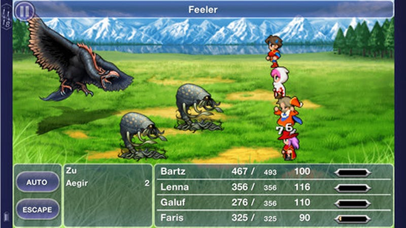 Illustration for article titled Final Fantasy V Comes to iOS Tomorrow, and It Looks... Like This.