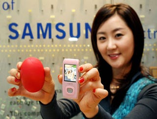 Illustration for article titled Samsung T9 Dropped in Pink Paint for Valentine's
