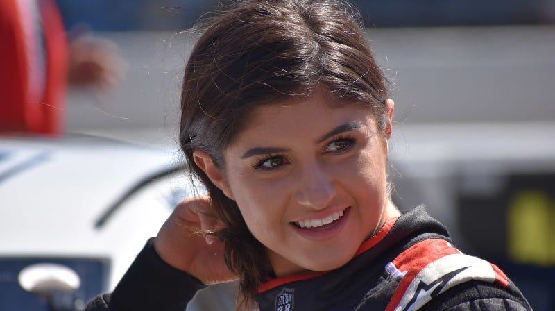 Illustration for article titled Hailie Deegan Makes NASCAR K&N History By Being the First Woman to Score a Pole Position
