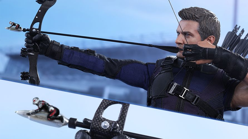 Illustration for article titled Hawkeye Isn't Even the Coolest Part of This Hawkeye Action Figure