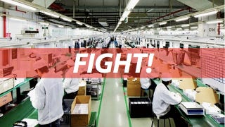 Illustration for article titled Foxconn Shuts Factory After 2,000-Employee Brawl Breaks Out