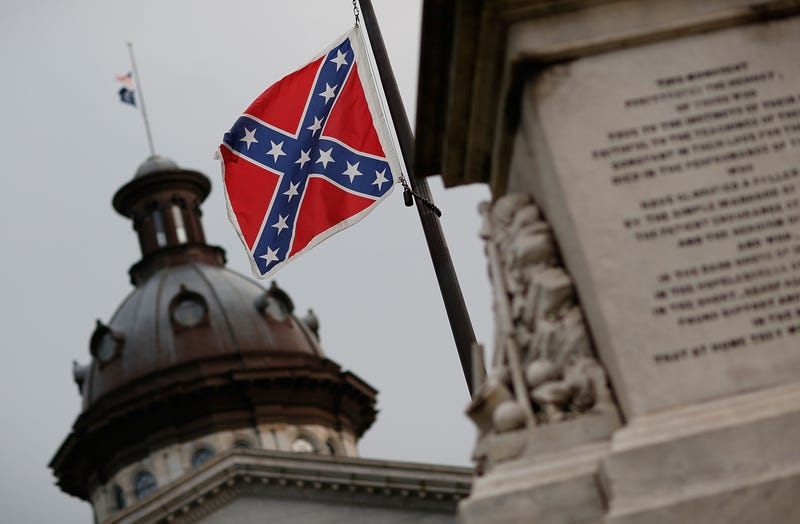 The Confederate flag flies on the Statehouse grounds in Columbia, S.C., June 23, 2015, one day after South Carolina Gov. Nikki Haley announced that she will call for the Confederate flag to be removed.Win McNamee/Getty Images
