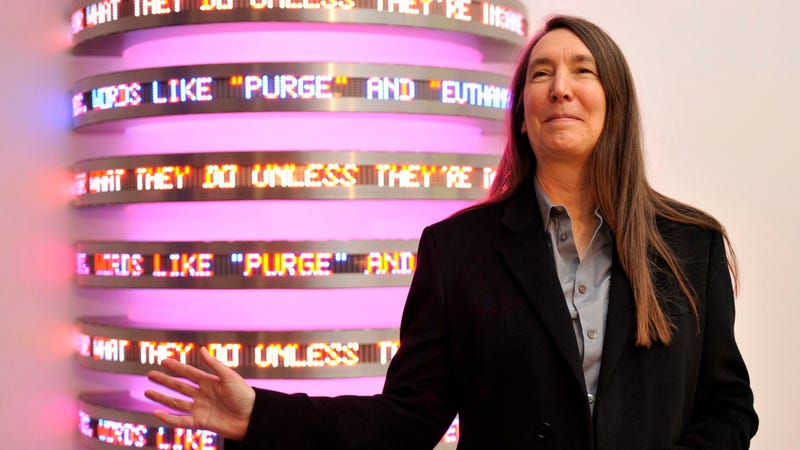Artist Jenny Holzer, one of the letter signees / Image via AP
