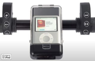 Illustration for article titled iBikeConsole is Bicycle iPod Mount, Remote Controller, Trip Computer in One