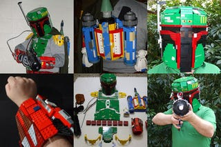 Illustration for article titled Guy Builds Full Lego Boba Fett Costume, Somehow Manages to Keep Marriage Intact